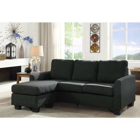 Reversible Sofa-chaise ( 9173GRY )