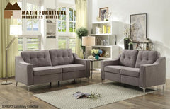 Sofa set with Loveseat ( 9248GRY-2 ) - Aldergrove Furniture Warehouse