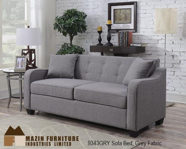 2pc Sectional with Pull-out Sofa Bed ( 9343GRY ) - Aldergrove Furniture Warehouse