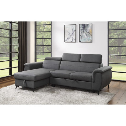 2-Piece Reversible Sectional 9403GY - Aldergrove Furniture Warehouse
