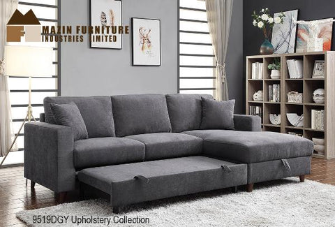 2 Pc Set with Sectional ( 9519DGY ) - Aldergrove Furniture Warehouse