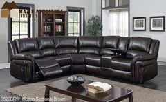 Motion Sectional ( 9520BRW-2L ) - Aldergrove Furniture Warehouse