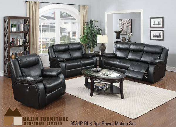 3Pc Power Motion Set ( 9534P-BLK-1 ) - Aldergrove Furniture Warehouse