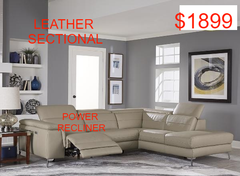$1899 Leather Sectional Power Recliner - Aldergrove Furniture Warehouse