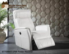 Recliner ( 9770WHT-1PW ) - Aldergrove Furniture Warehouse