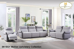 3 Pc Motion Set ( 9819GY-1PWH ) - Aldergrove Furniture Warehouse