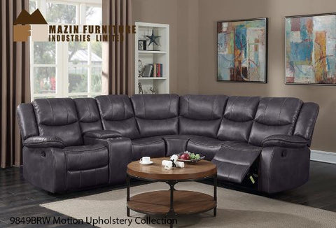 3 Pc Motion Set ( 9849PBRW ) - Aldergrove Furniture Warehouse