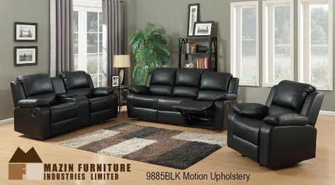 3 Pc Motion Set ( 9885BLK-1G ) - Aldergrove Furniture Warehouse