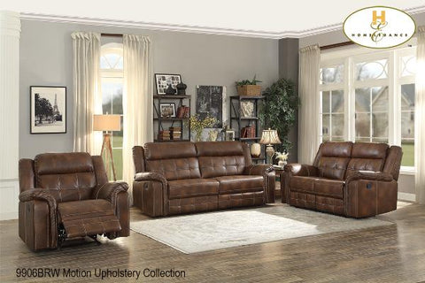 3 Pc Motion Set ( 9906BRW-1 ) - Aldergrove Furniture Warehouse