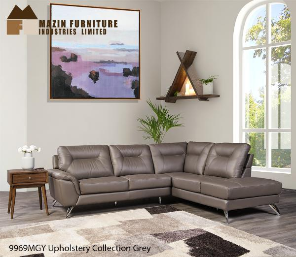 2 Pc Set with Sectional ( 9969MGY ) - Aldergrove Furniture Warehouse