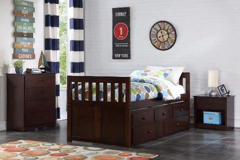The Captain's Bed  BunkBed ( B2013E-R ) - Aldergrove Furniture Warehouse