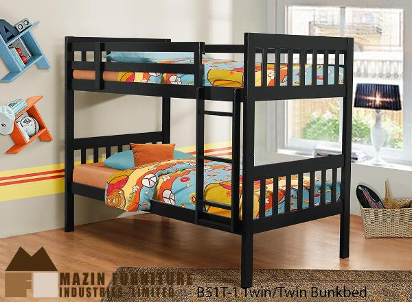 The Hilton Bunkbed  BunkBed ( B51T-1 ) - Aldergrove Furniture Warehouse