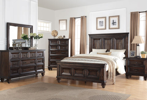 Sevilla Walnut Finish Bedroom Collection - Aldergrove Furniture Warehouse