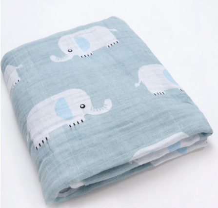 Boy Boy Elephant Swaddle