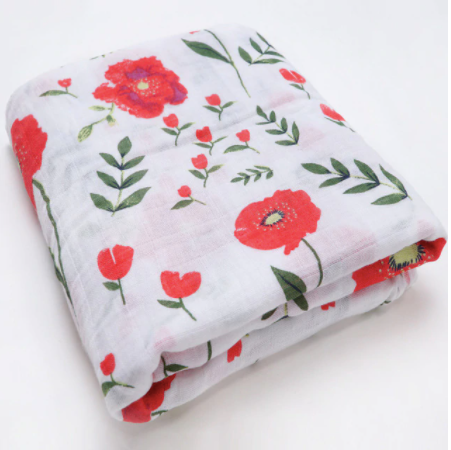 Baby Girl Flower Swaddle