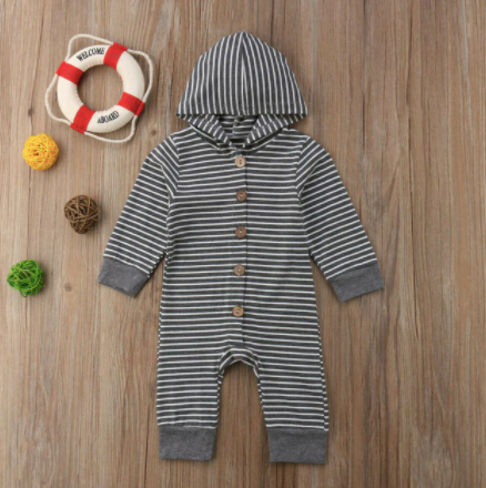 Grey striped jumper