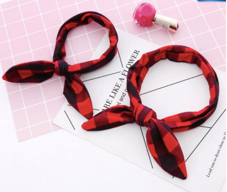 Mommy and me headbands - plaid