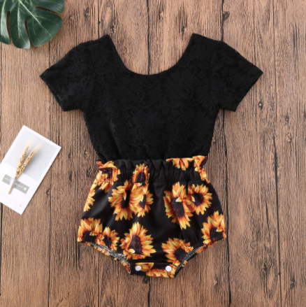 One piece Sunflower Romper
