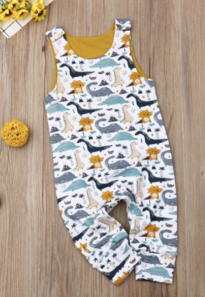 Sleeveless Dino Romper