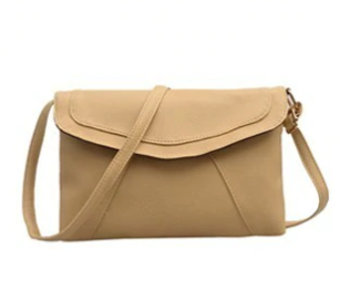 Khaki Envelope Shoulder bag