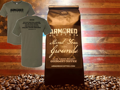 Big Bag of Armored Coffee/T-Shirt Combo
