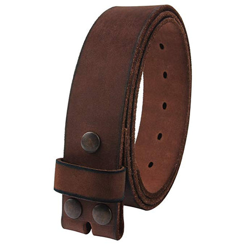 NPET Mens Leather Belt Full Grain Vintage