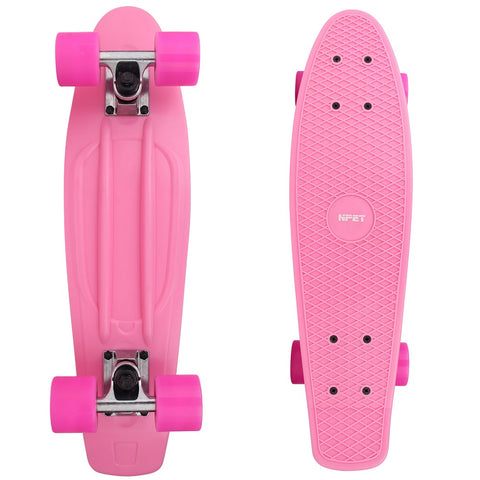 "NPET 22"" Cruiser Skateboard Mini Complete Skateboard for Beginners"