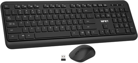 NPET KM20 Wireless Keyboard and Mouse Combo