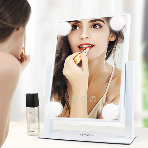 NPET Hollywood Style Makeup Vanity Mirror with LED Lights