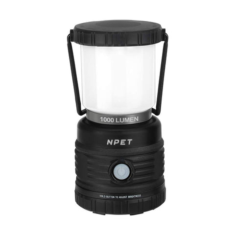 NPET LED Camping Lantern 1000LM, Rechargeable/Battery Powered for Hurricane Emergency