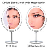 NPET Double Sided Lighted Vanity Makeup Mirror