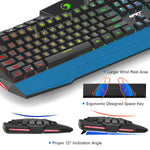 NPET S10 PC Gaming Keyboard and Mouse Combo RGB Mechanical Feeling Keyboard