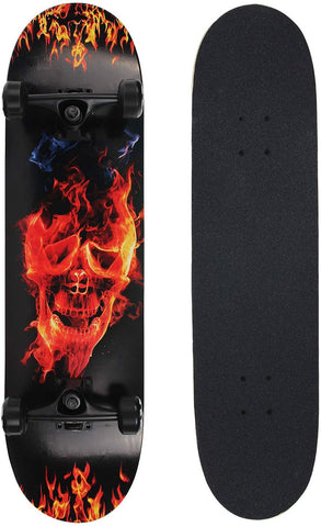 NPET Pro Skateboard Complete 31 Inch 7 Layer Canadian Maple