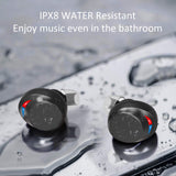 NPET C3 True Wireless Earbuds, Bluetooth 5.0 Bass Stereo Sound