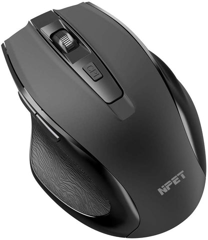 NPET WM10 2.4G Wireless Mouse Portable Mobile Optical Mouse