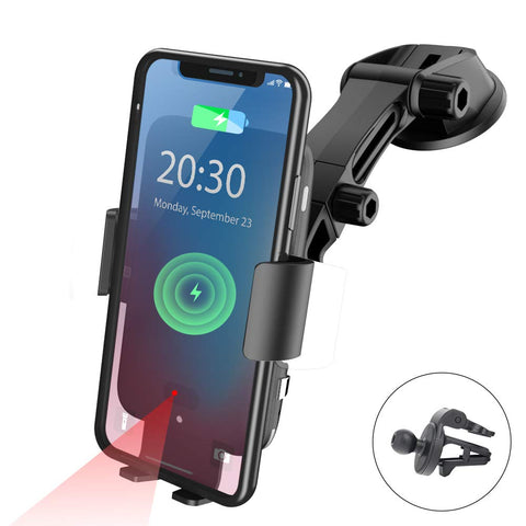 NPET Wireless Car Charger Mount, Qi 10W Fast Charging