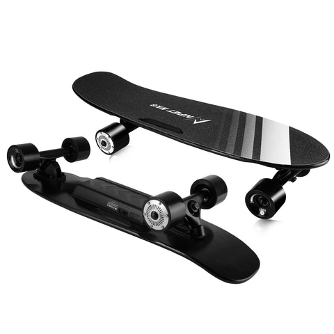 "NPET 27"" Electric Skateboard Maple Deck Skate Board with Wireless Remote Control"