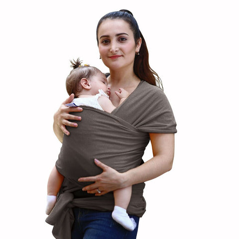 NPET Baby Wrap Carrier Original Natural Cotton Baby Slings for Newborns