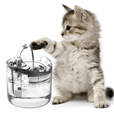 1.8L Transparent Cat Dog Water Fountain WF060