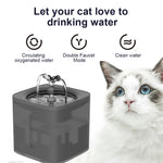 68 oz. Cat Dog Water Fountain WF070 - Transparent Matte