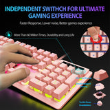 gaming keyboard pink