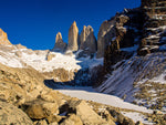 Torres Del Paine in Patagonia during winter