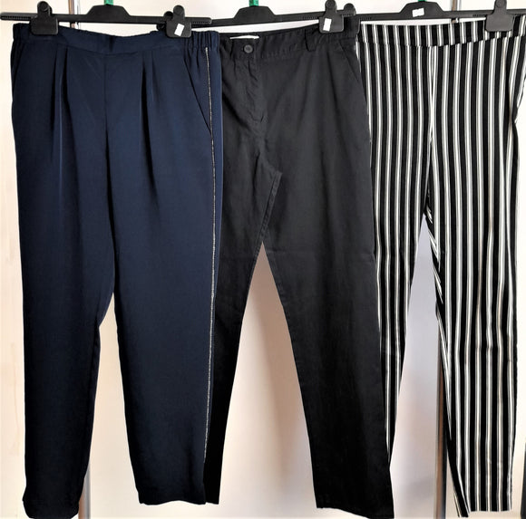 Women's Clothes Bundle 3 Assorted Trousers Size 12 2x River Island 1x H&M