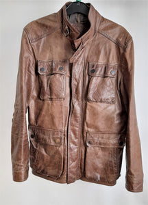 Men's Massimo Dutti Genuine Leather Jacket Size Medium