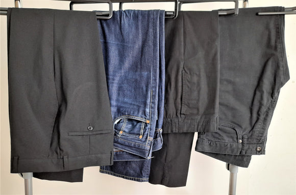 Men's Clothes Bundle 4 Assorted Trousers Size 32 Inc. Gap, Uniqlo