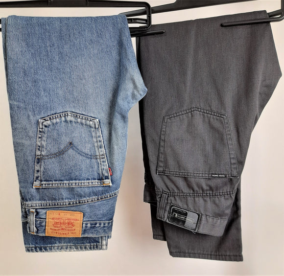 Men's Clothes Bundle Levi's and Teddy Smith 2 Assorted Jeans Size 34