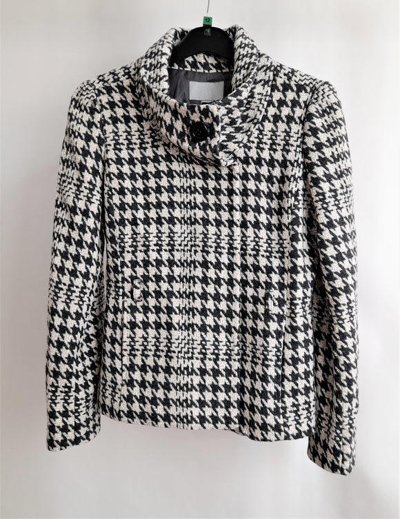 Women's H&M Chequered Jacket Size 12