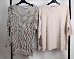Women's Clothes Bundle 2 Jumpers Size Small Inc. Wallis and Zara (Pearl Detail)