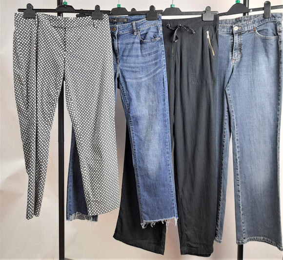 Women's Clothes Bundle 4 Assorted Trousers Inc. Gap, Next, M&S Size 12