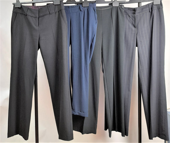Women's Clothes Bundle 4 Assorted Trousers Inc. Asos and M&S Size 10